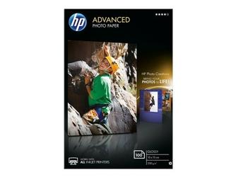 HP Papier PhotoAdv Glossy 10x15 bdl 100s
