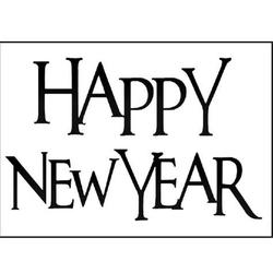 Stempel akrylowy Stamperia - Happy New Year - 121
