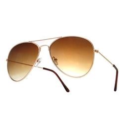 Okulary aviator przeciwsłoneczne złote pilotki