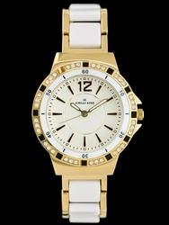 Bialy zegarek damski JORDAN KERR - CW024 zj826b - antyalergiczny