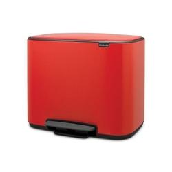 Brabantia - kosz pedałowy bo 36 l - czerwony - czerwony