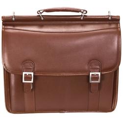 Skórzana Teczka Męska Mcklein Halsted 80334 na laptopa 15,4 Brązowa - brązowy