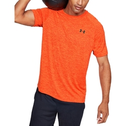 Koszulka męska under armour tech ss tee 2.0 - pomarańczowy