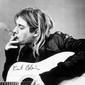 Kurt Cobain smoking - plakat