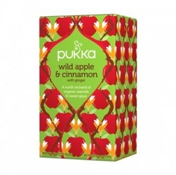 Herbata wild apple  cinnamon bio dzikie jabłko, cynamon, imbir 20 sasz. pukka