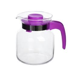 Dzbanek do herbaty, kawy, wody i soku szklany altom design 0,65 l fioletowy