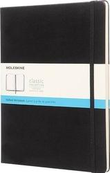 Notes moleskine w twardej oprawie xl czarny w kropki