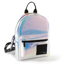Plecak damski kendall+kylie sam medium backpack iridescent - srebrny