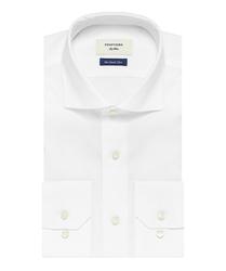 Elegancka biała koszula męska profuomo sky blue - smart shirt 43