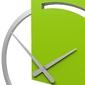 Zegar ścienny karl calleadesign jasny dąb 10-124-81