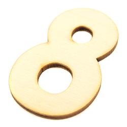Drewniana cyfra 6 cm - 8 - 8