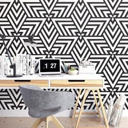 Triangle illusion - tapeta na ścianę , rodzaj - tapeta flizelinowa
