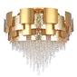 Lampa sufitowa, duża, złota, kryształki, art deco carmen chiaro crystal 394011924