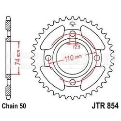 Zębatka tylna stalowa jt r854-38, 38z, rozmiar 530 2302445 yamaha rd 400