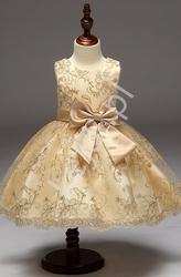 Złota sukienka dla małej księżniczki dla dziewczynek