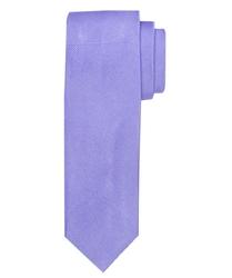 Jasnofioletowy krawat jedwabny