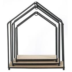 Zestaw trzech loftowych półek w kształcie domku filaire