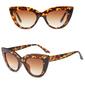 Okulary damskie przeciwsłoneczne kocie oko brązowe - BRĄZOWE