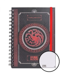 Game of thrones targaryen notes a5 na spirali