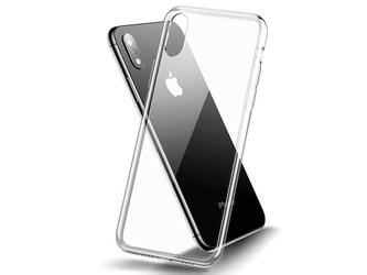 Etui cafele slim glass case apple iphone xs max przezroczyste - przezroczysty