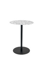 Zuiver stolik bistro snow okrągły z imitacją marmuru 2100102
