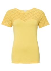 Shirt bonprix żółty kremowy