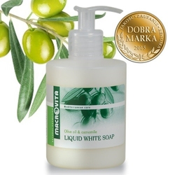 Macrovita białe mydło w płynie z bio-oliwą z oliwek i bio-rumiankiem 300ml - białe