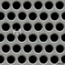 Obraz na płótnie canvas dwuczęściowy dyptyk metalowa powierzchnia z otworami.