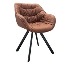 Krzesło tapicerowane finn nowoczesne brązowe