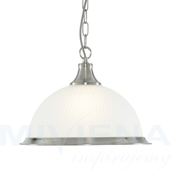 American diner lampa wisząca satynowy srebrny
