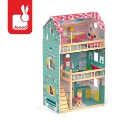 Domek dla lalek xl z 12 akcesoriami happy day, janod