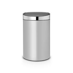 Brabantia - kosz touch bin 40 l - wiaderko plastikowe - metaliczny szarypokrywa stalowa - szary || stal polerowana