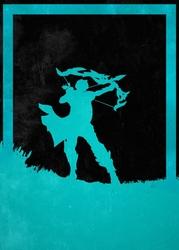 League of legends - ashe - plakat wymiar do wyboru: 20x30 cm