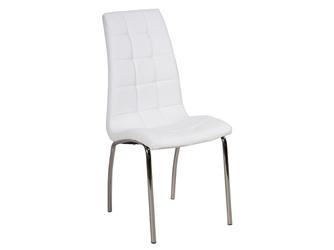 Krzesło do kuchni Hampton białe tapicerowane