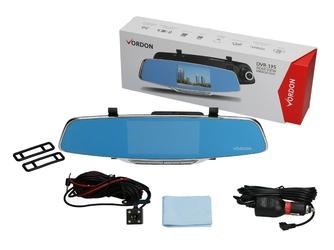 Vordon dvr-195 + kamera cofania  - wideorejestrator - lusterko