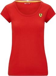 Koszulka damska scuderia ferrari f1 shield logo czerwona - czerwony