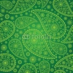 Plakat na papierze fotorealistycznym paisley bez szwu