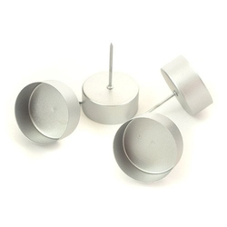 Metalowy świecznik na tea-light 4 szt. srebrny