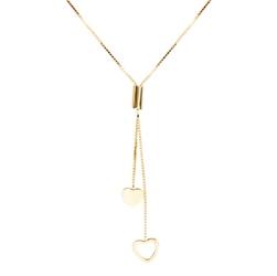 Złoty naszyjnik złączone serduszka pr. 585 prezent