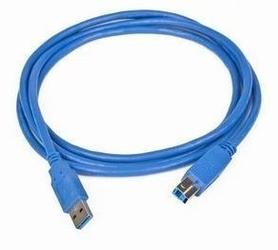 Gembird kabel usb 3.0 typu ab am-bm 1,8 niebieski