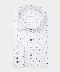 Wyjątkowa biała koszula michaelis w wakacyjny motyw 37