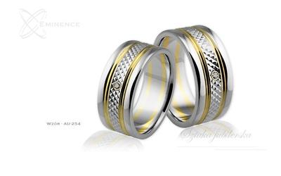 Obrączki ślubne - wzór au-254