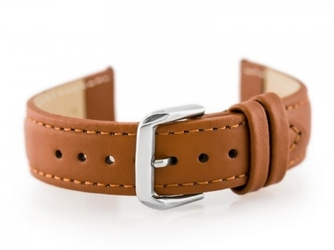 Pasek skórzany do zegarka w30 - w pudełku - camel - 16mm
