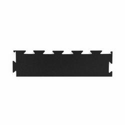 Bok profesjonalnej podłogi pod wolne ciężary premium puzzle czarny - marbo sport - 30-50 mm