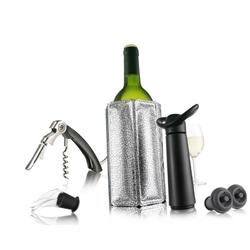 Vacu vin - zestaw do wina niezbędnik - czarny