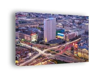 Warszawa centrum - obraz na płótnie wymiar do wyboru: 70x50 cm
