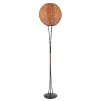 Lampa podłogowa z ratanowym kloszem greta candellux 4055011-00