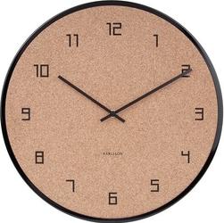 Zegar ścienny modest cork czarny