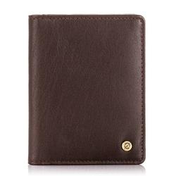 Męski portfel ze skóry ochrona rfid brodrene sw-s2 ciemny brąz