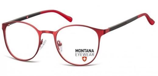 Okrągłe okulary oprawki optyczne pod korekcję mm607e czerwone
